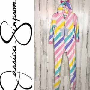 Jessica Simpson rainbow hooded onesie